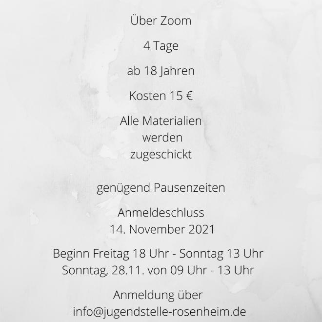 Flyer zur Veranstaltung, Rückseite mit allen Infos, die du auch im Text findest