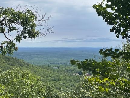 Foto: Ausblick in ein weites grünes Tal